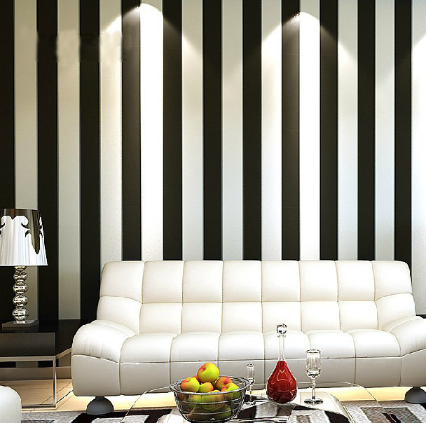Home-decor-Zebra-preto-moderno-breve-Vertical-Stripe-Wallpaper-rolo-para-sala-parede-rolo-de-papel